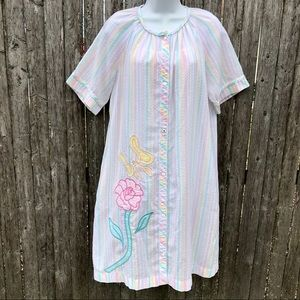Vintage 1970s/1980s Cotton Nightgown House Dress